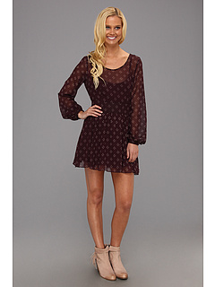 SALE! $51.99 - Save $76 on Free People Baby Dee Dress (Maroon Combo) Apparel - 59.38% OFF $128.00