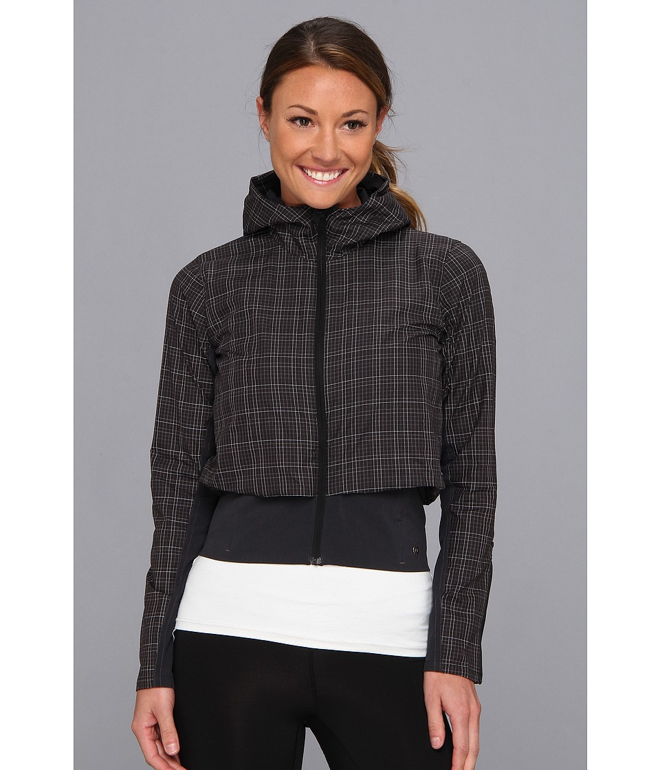 Brooks - PureProject Jacket (Black Plaid/Heather Black) Women's Coat