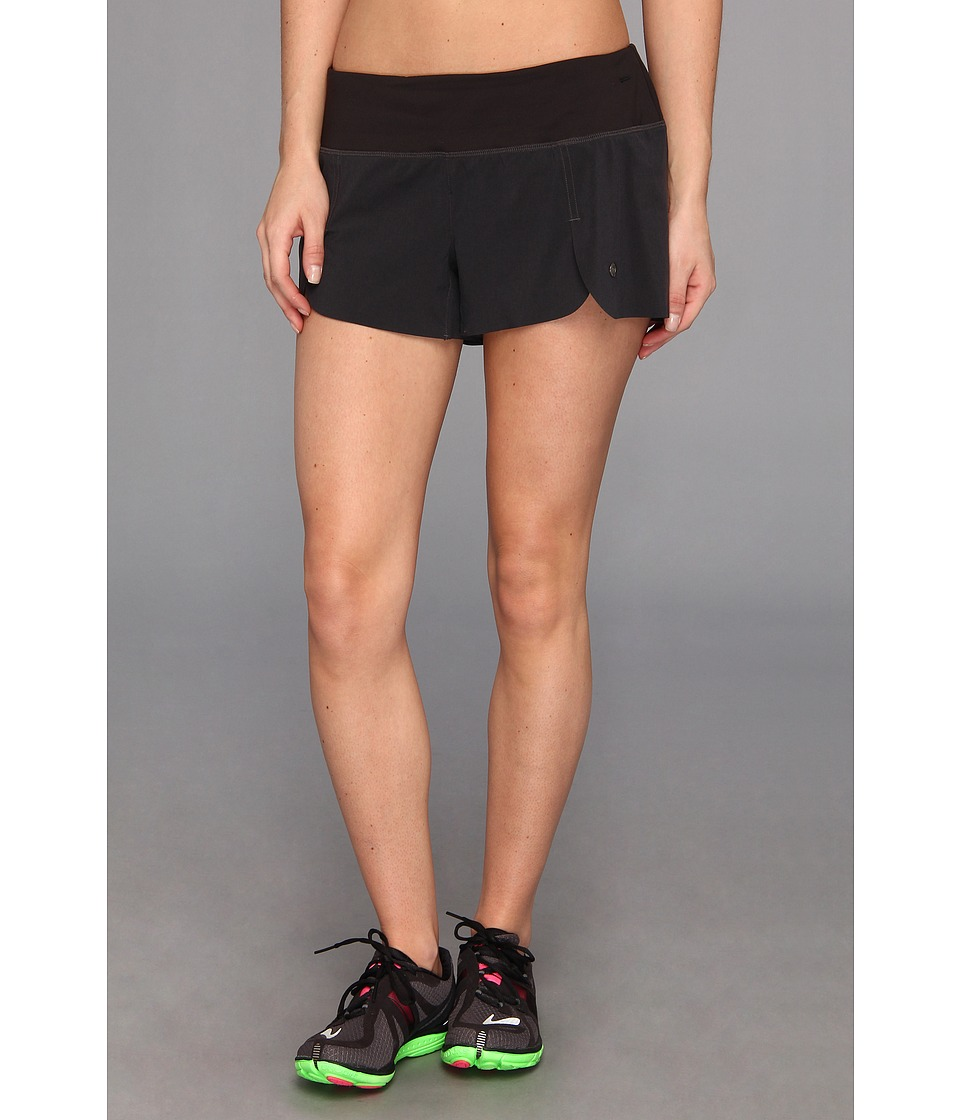 Brooks - PureProject 3.5 Short (Heather Black/Black/Black) Women's Shorts