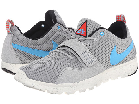 Nike SB - Trainerendor (Base Grey/Vivid Blue/Sail) Men's Skate Shoes