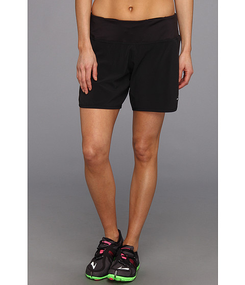 Brooks - Sherpa 2-in-1 6 Short (Black/Black) Women's Shorts