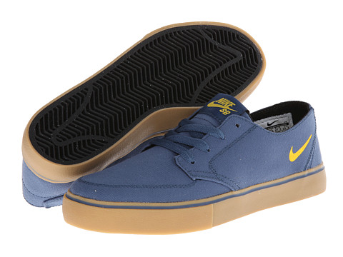 Nike SB - Braata LR Canvas (New Slate/Black/Varsity Maize) Men