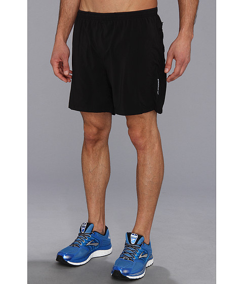 Brooks - Sherpa VI 2-in-1 7 Short (Black/Black) Men