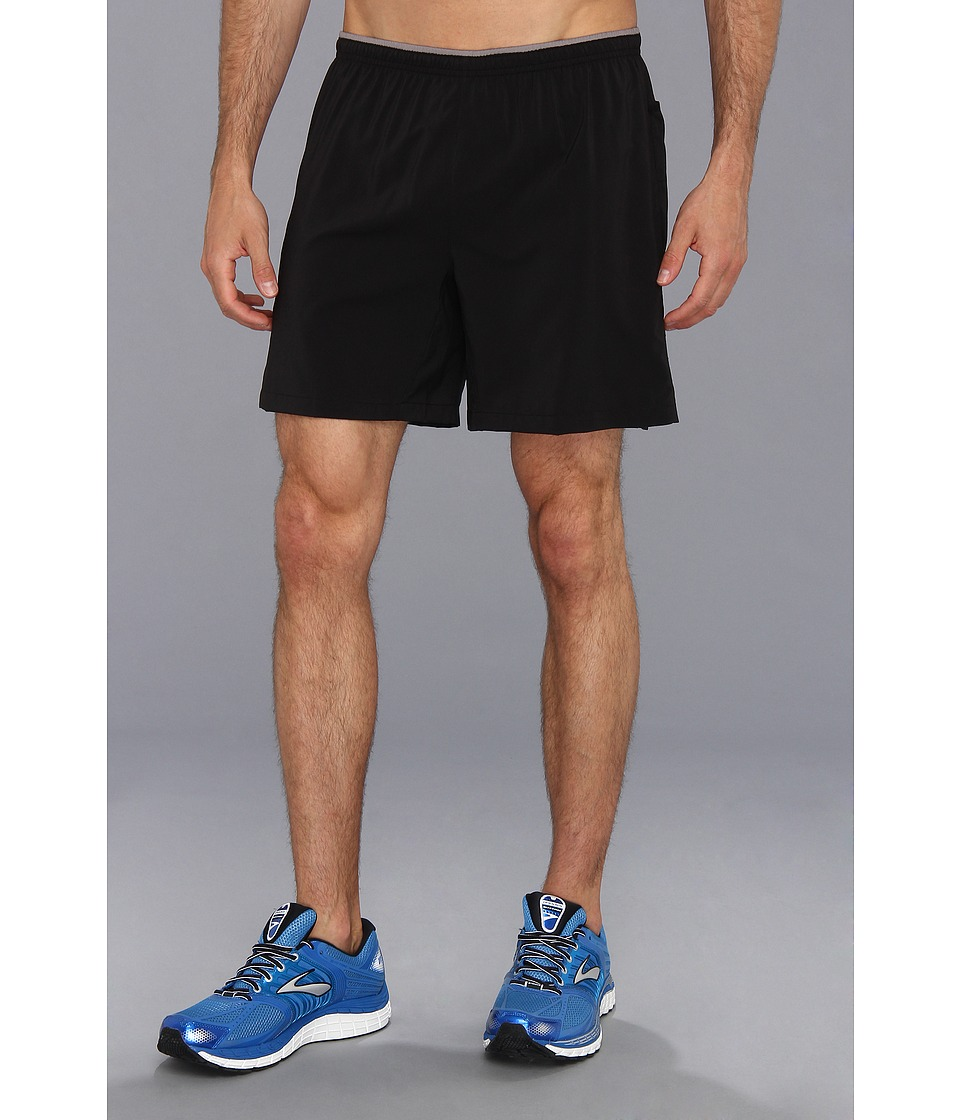 Brooks - Sherpa VI 7 Short (Black/Black) Men's Shorts