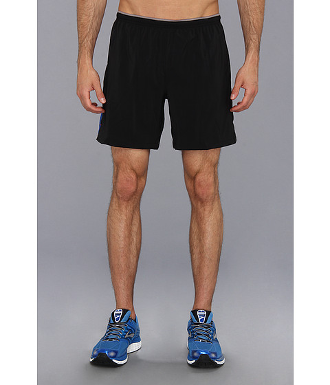 Brooks - Sherpa VI 7 Short (Black/Electric) Men's Shorts