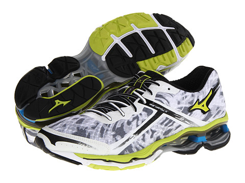 Mizuno - Wave Creation 15 (White/Lime Punch/Dude Blue) Men