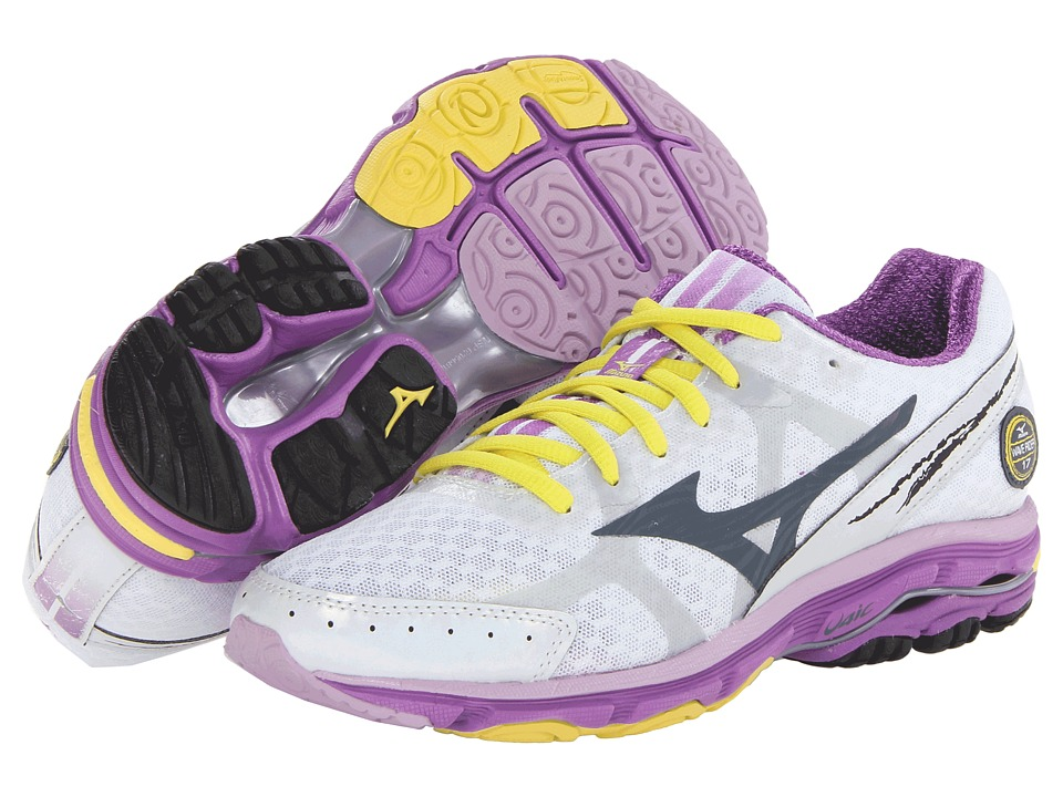 Mizuno - Wave Rider 17 (White/Dark Slate/Dewberry) Women