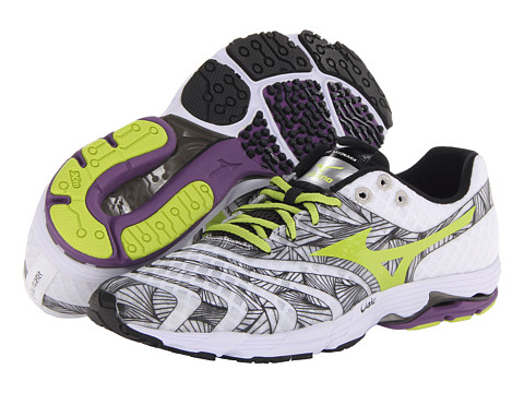 Mizuno - Wave Sayonara (White/Lime Punch/Black) Men's Running Shoes