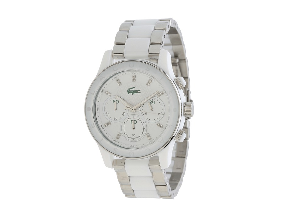 Lacoste - Goa Colors (Silver/White) Chronograph Watches