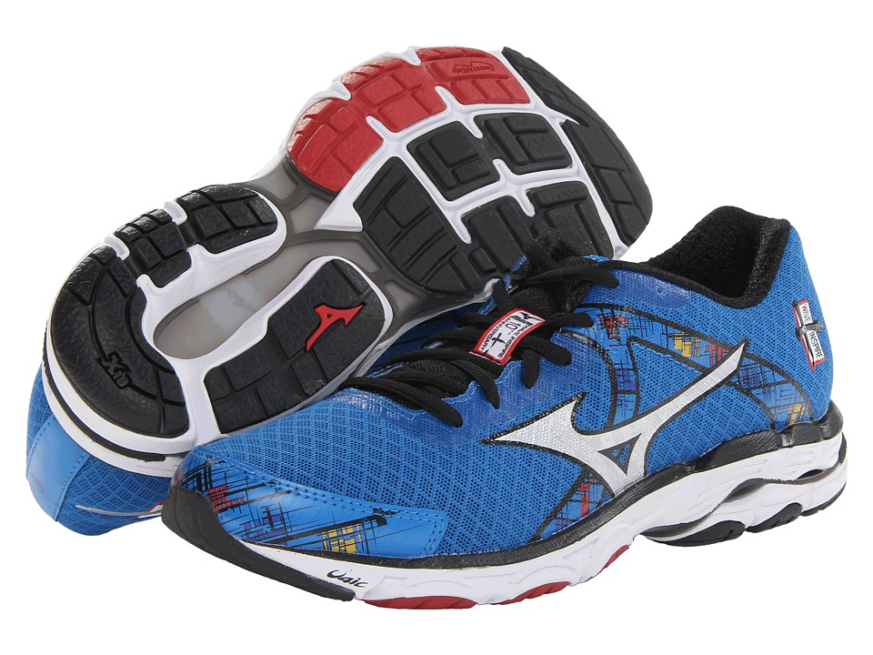 Mizuno - Wave Inspire 10 (Directoire Blue/Silver/Chinese Red) Men's Running Shoes