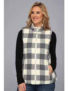 SALE! $66.99 - Save $152 on Pendleton Plus Size Reversible Double Time Vest (Ivory Grey Mix Buffalo Check) Apparel - 69.41% OFF $219.00