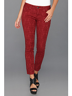 SALE! $49.99 - Save $38 on Free People Jacquard Washed 5 Pocket (Cranberry) Apparel - 43.19% OFF $88.00