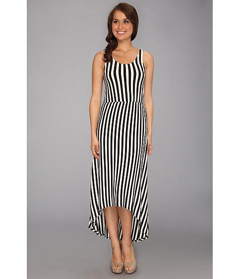 Culture Phit - Lacie High-Low Dress (Black/White) Women's Dress