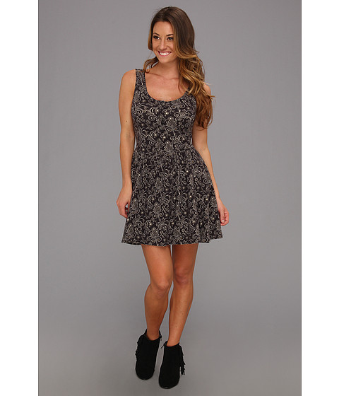 Free People - Everyone Everywhere Dress (Black Combo) Women's Dress