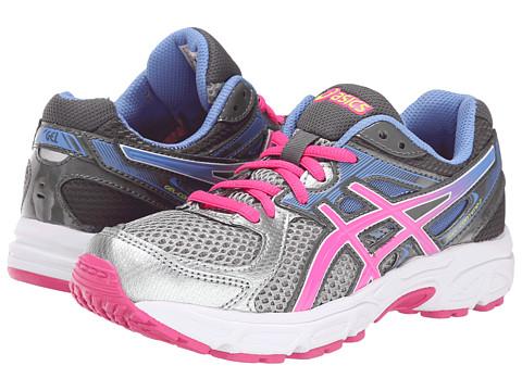 ASICS Kids - Gel-Contend 2 GS (Little Kid/Big Kid) (Lightning/Hot Pink/Periwinkle Blue) Girls Shoes
