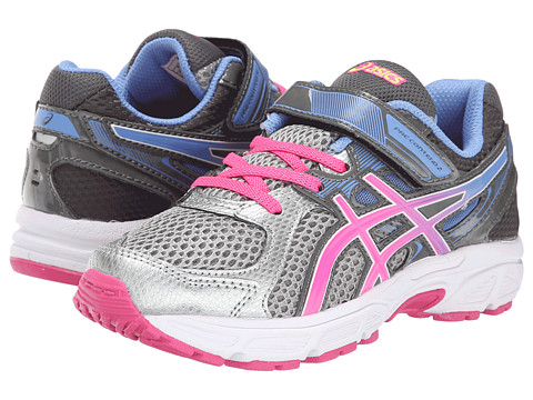 ASICS Kids - Pre-Contend 2 PS (Toddler/Little Kid) (Lightning/Hot Pink/Periwinkle Blue) Girls Shoes