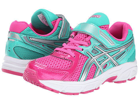 ASICS Kids - Pre-Contend 2 PS (Toddler/Little Kid) (Hot Pink/Lightning/Emerald 1) Girls Shoes