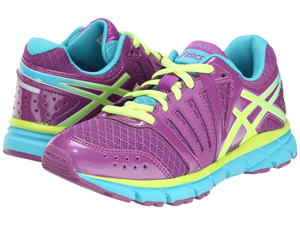 ASICS Kids - Gel-Lyte33 2 GS (Little Kid/Big Kid) (Purple/Blazing Yellow/Turquoise) Girls Shoes
