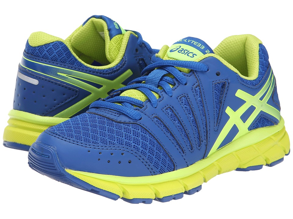 ASICS Kids Gel-Lyte33 2 GS (Little Kid/Big Kid) (Royal/Flash/Yellow/Lime) Boys Shoes