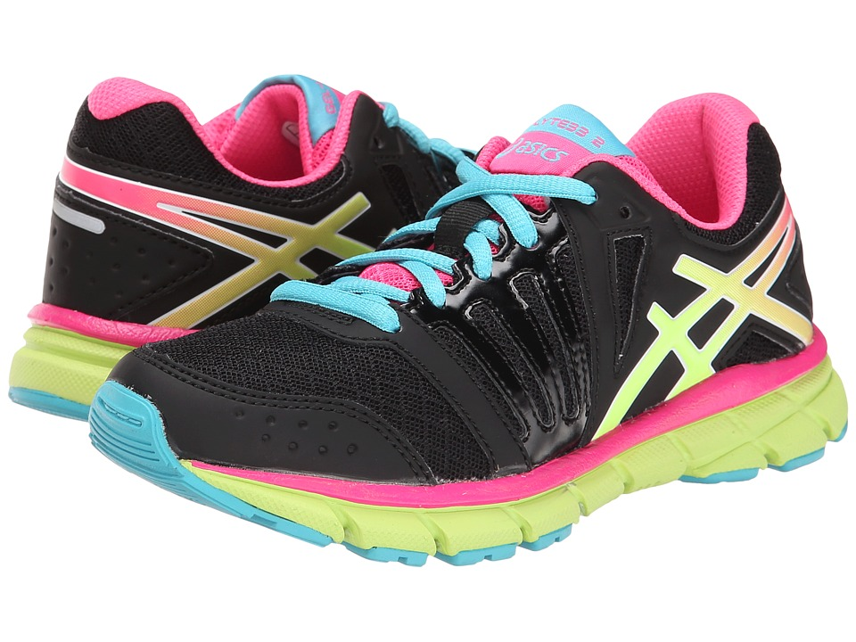 ASICS Kids - Gel-Lyte33 2 GS (Little Kid/Big Kid) (Black/Flash Yellow/Hot Pink) Girls Shoes