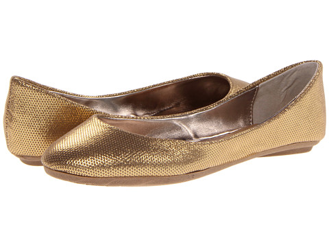 Steve Madden - P-Heaven (Gold Jenga Foil) Women's Flat Shoes