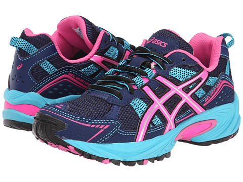 ASICS Kids - Gel-Venture 4 GS (Little Kid/Big Kid) (Blue Depth/Hot Pink/Turquoise) Girls Shoes