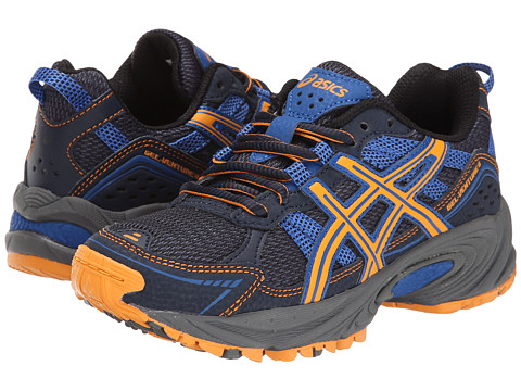 ASICS Kids - Gel-Venture 4 GS (Little Kid/Big Kid) (Navy/Bright Orange/Royal) Boys Shoes