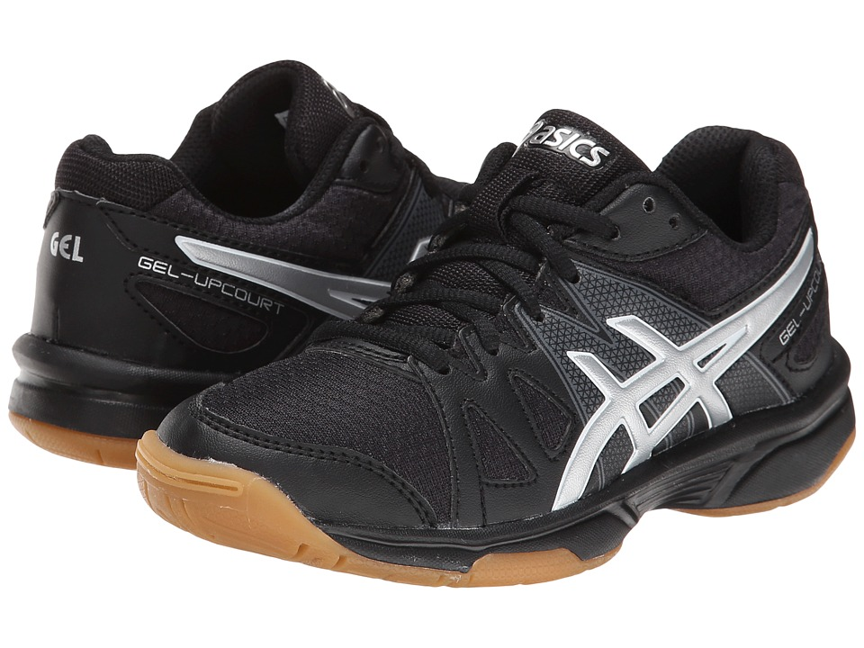ASICS Kids - Gel-Upcourt GS (Little Kid/Big Kid) (Black/Silver) Kids Shoes