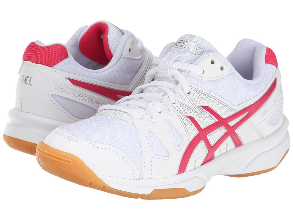ASICS Kids - Gel-Upcourt GS (Little Kid/Big Kid) (White/Raspberry/Silver) Girls Shoes