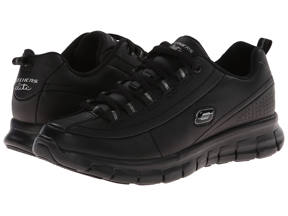 SKECHERS - Synergy - Elite Status (Black) Women's Lace up casual Shoes