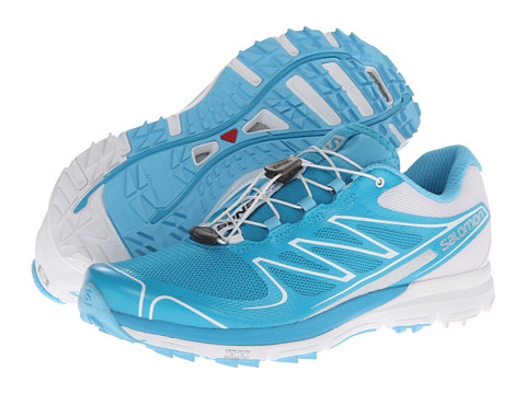 Salomon - Sense Pro (Boss Blue/White/Silver Met) Women's Running Shoes