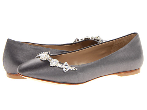 David Tutera - Blossom (Steel Satin) Women's Flat Shoes