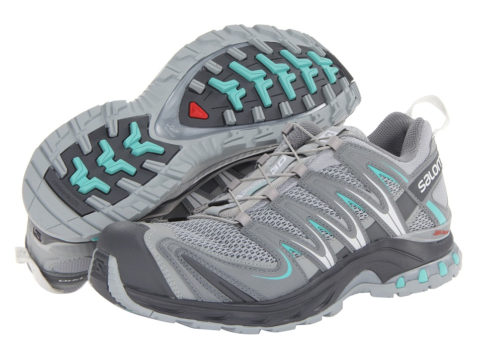 Salomon - XA Pro 3D (Light Onix/Dark Cloud/Softy Blue) Women's Running Shoes