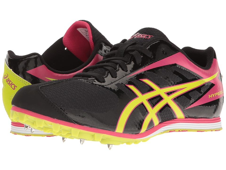 ASICS - Hyper LD 5 (Black/Lime/Pink) Women's Running Shoes