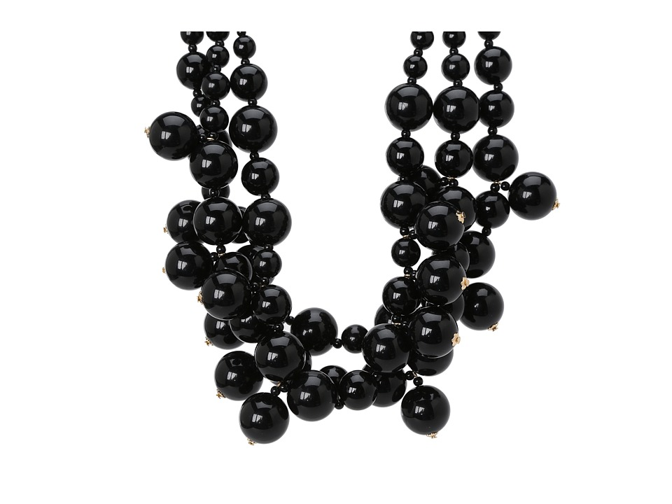 Kenneth Jay Lane - Multi Bead Necklace (Black) Necklace