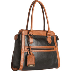 SALE! $64.99 - Save $70 on London Fog Fielding Shopper (Black Cognac Black) Bags and Luggage - 51.86% OFF $135.00