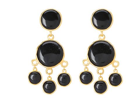 Kenneth Jay Lane - 7304ESGB Earrings (Gold/Black) Earring