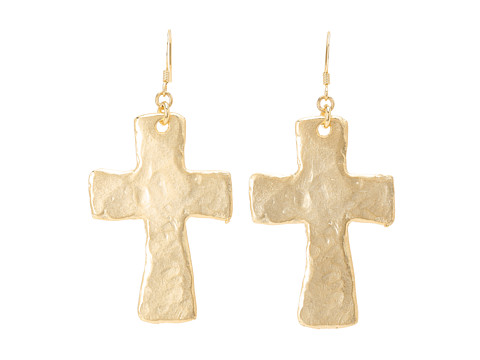 Kenneth Jay Lane - 4356ESG Earrings (Satin Gold) Earring
