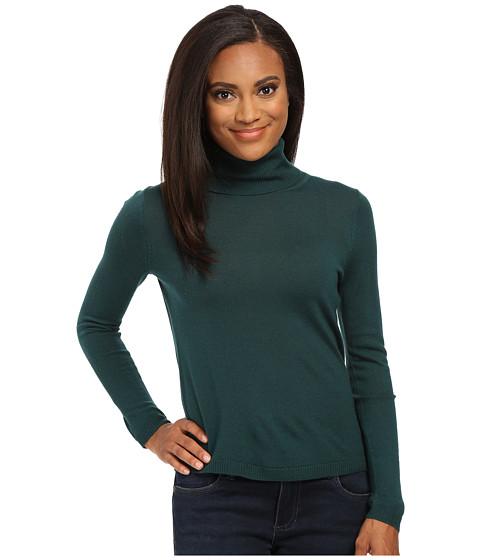 Pendleton - Petite Classic Turtleneck Sweater (Evergreen) Women's Long Sleeve Pullover