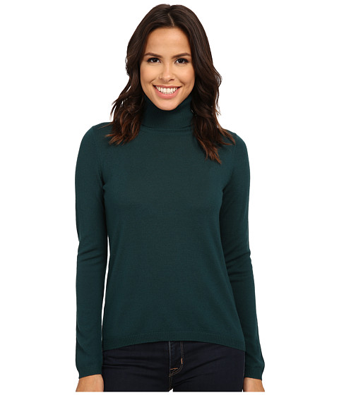 Pendleton - Classic Turtleneck Sweater (Evergreen) Women's Long Sleeve Pullover
