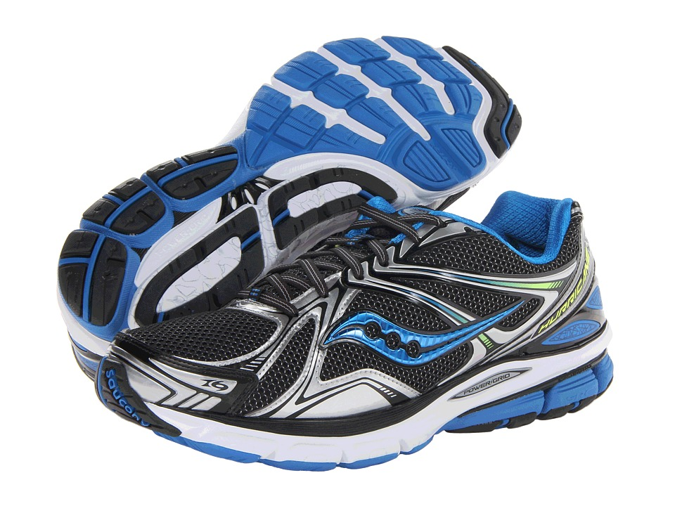 Saucony - Hurricane 16 (Black/Blue/Citron) Men's Shoes