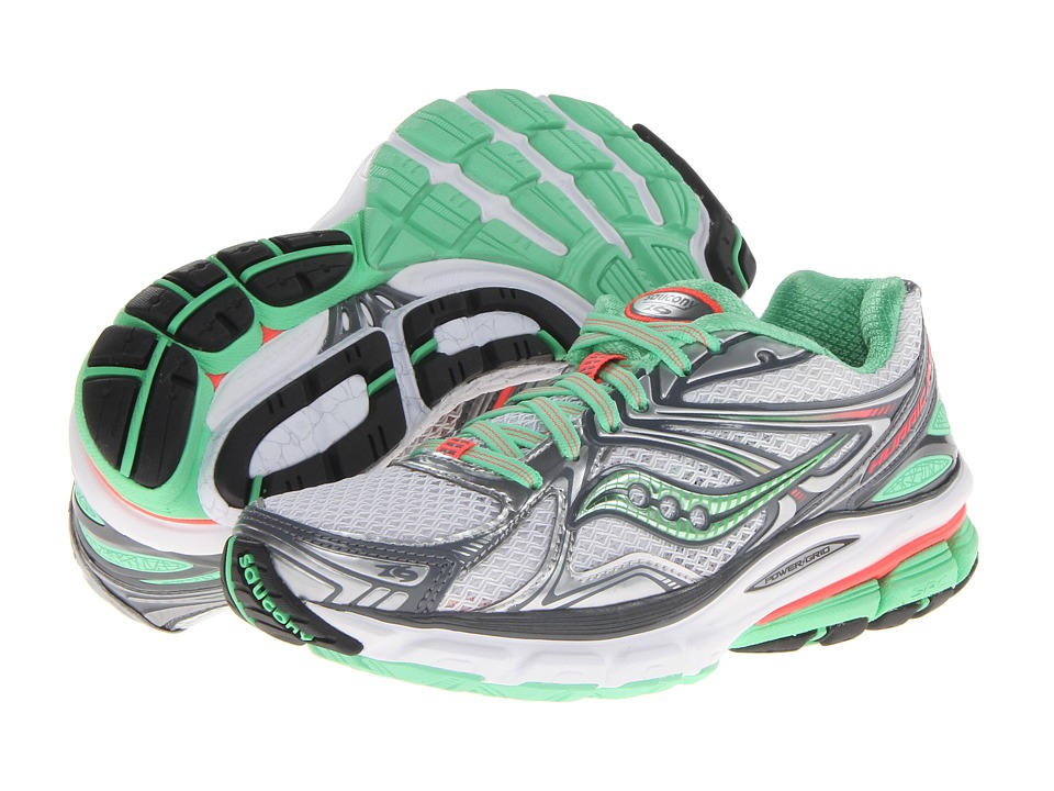Saucony - Hurricane 16 (Grey/Green/Pink) Women's Running Shoes