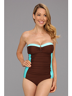 SALE! $60.99 - Save $34 on Athena Worth Avenue Bandeau One Piece (Brown) Apparel - 35.80% OFF $95.00