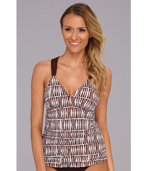 Athena - Turkish Tankini Top (Brown) Women's Swimwear