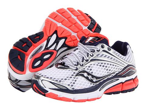 Saucony - Triumph 11 (White/Vizicoral/Navy) Women's Shoes
