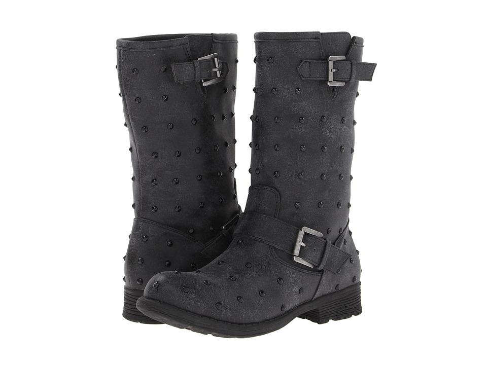UNIONBAY - Hazel Stud Motorcycle Boot w/ Studs (Black) Women's Pull-on Boots