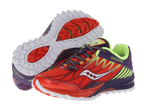 Saucony - Peregrine 4 (Orange/Purple/Citron) Women's Running Shoes