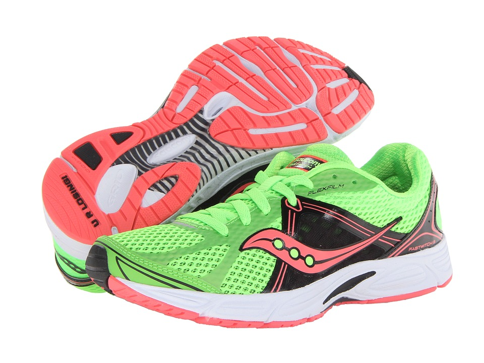 Saucony - Fastwitch 6 (Slime/Black/Coral) Women's Running Shoes