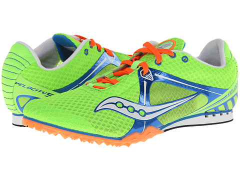 Saucony - Velocity 5 (Green/Navy/Orange) Men's Running Shoes