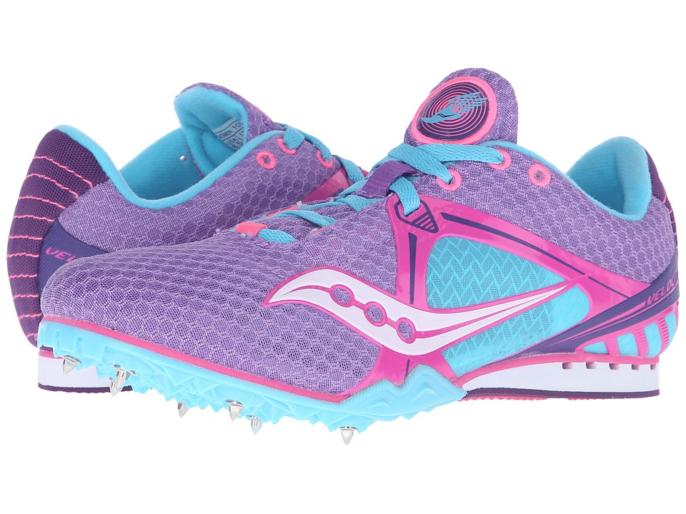 Saucony - Velocity 5 (Purple/Pink/Light Blue) Women's Running Shoes